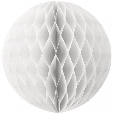 Bola nido de abeja blancas. 40 cms.