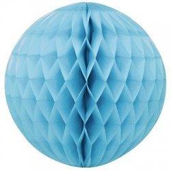 Bola nido de abeja, azul claro, 30 cms