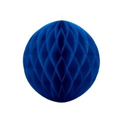 Bola nido de abeja, azul añil, 30 cms
