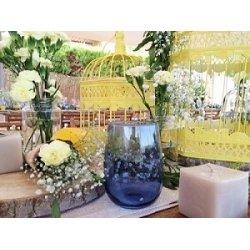 Alquiler - Vaso para agua, cristal azul añil