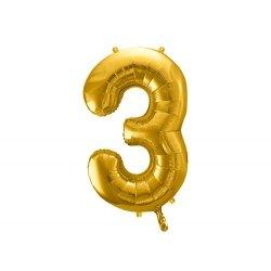 Globo de foil dorado, Aprox 90 cms. Números del 0 al 9.