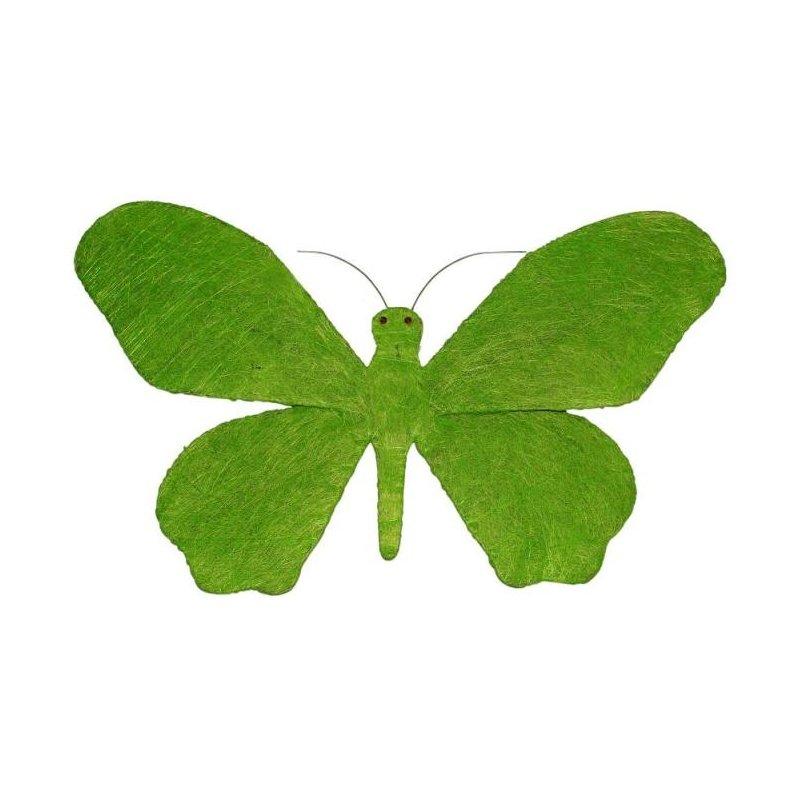 Mariposa verde. 70x41 cms