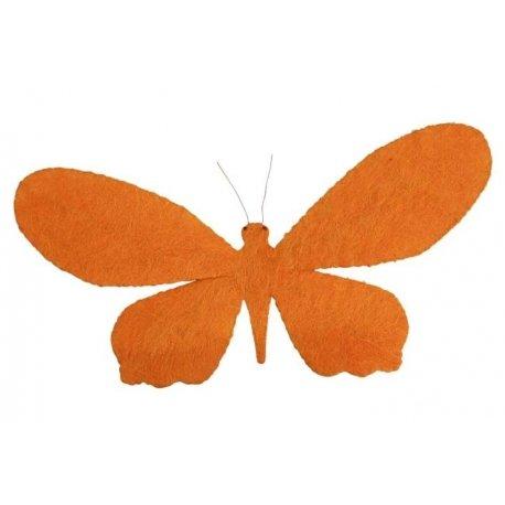 Mariposa naranja. 112x55 cms