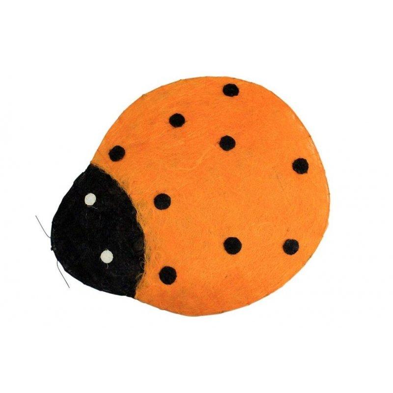 Mariquita naranja 63x73 cms