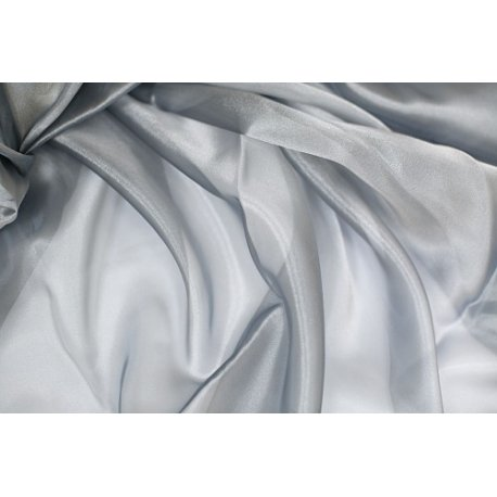 5 Metros de tela de organza plata, ancho 1.5 m.