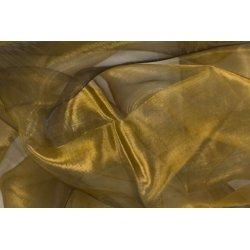 5 Metros de tela de organza oro antiguo, cobrizo, ancho 1.5 m.