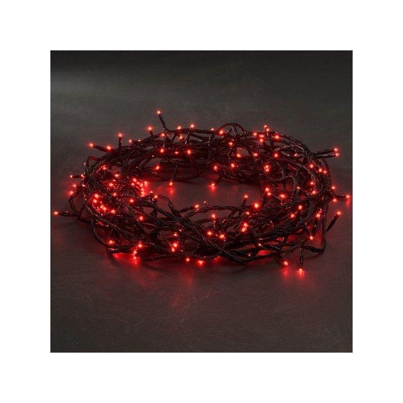 Guirnalda de luces de Navidad. 80 bombillas led rojo