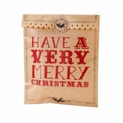 8 bolsas-sobres kraft con pegatinas. Merry Christmas
