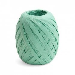 100 m de Rafia de papel, verde agua - mint.