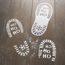 2 Plantillas de stencil, suela de botas de Papa Noel