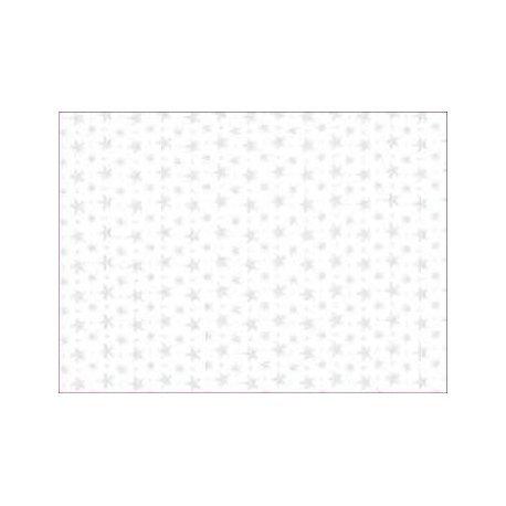 40 Hojas de papel de seda, Estrellas blancas