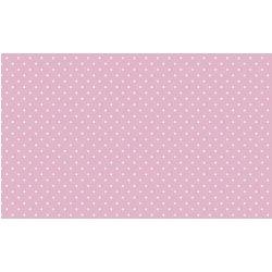 40 Hojas de papel de seda rosa, lunares blancos