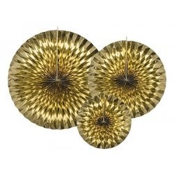 3 Abanicos dorados