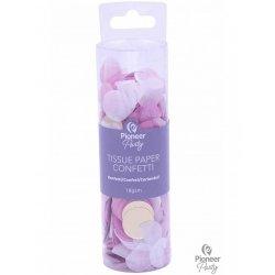 Confeti de papel de seda en tonos rosa. 18 grs