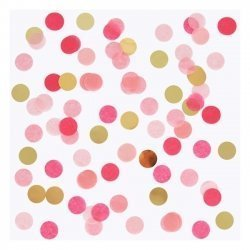 15 Grs de Confeti en tonos rosa y dorado
