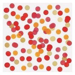 15 Grs de Confeti de papel de seda en color rojo, naranja, granate y dorado
