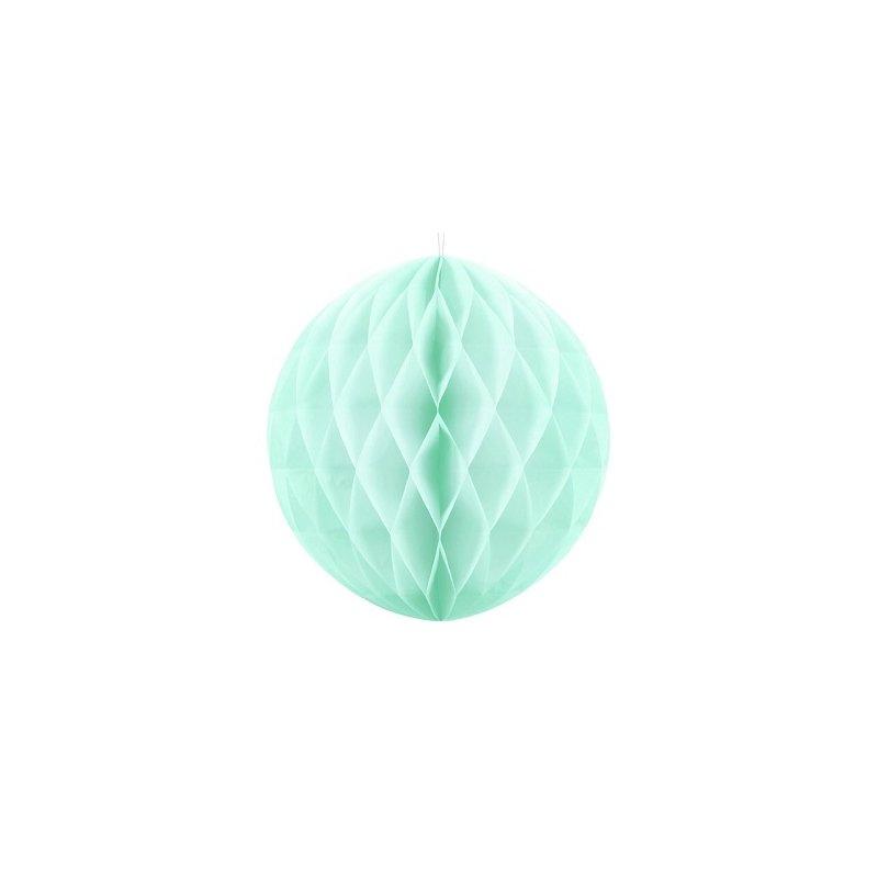 Bolas nido de abeja agua-verde mint. 30 cms