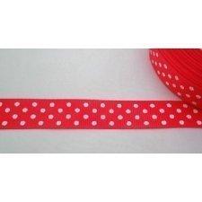 10 M. de Cinta de regalo, otomán rojo, lunar blanco 23mm