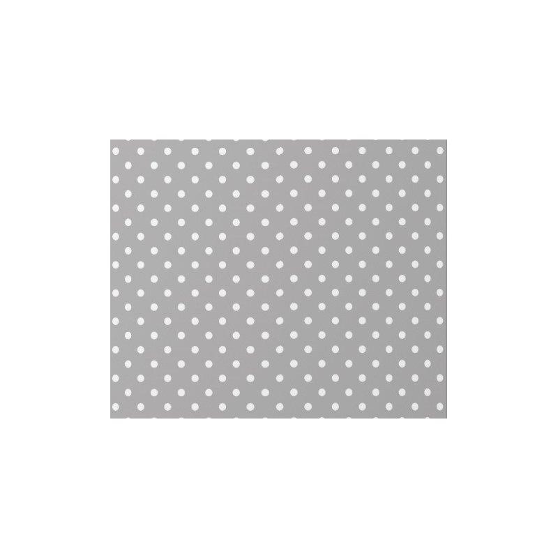 40 Hojas de papel de seda gris, lunares