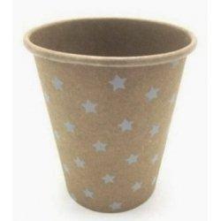 12 Vasos de papel krat con estrellas.