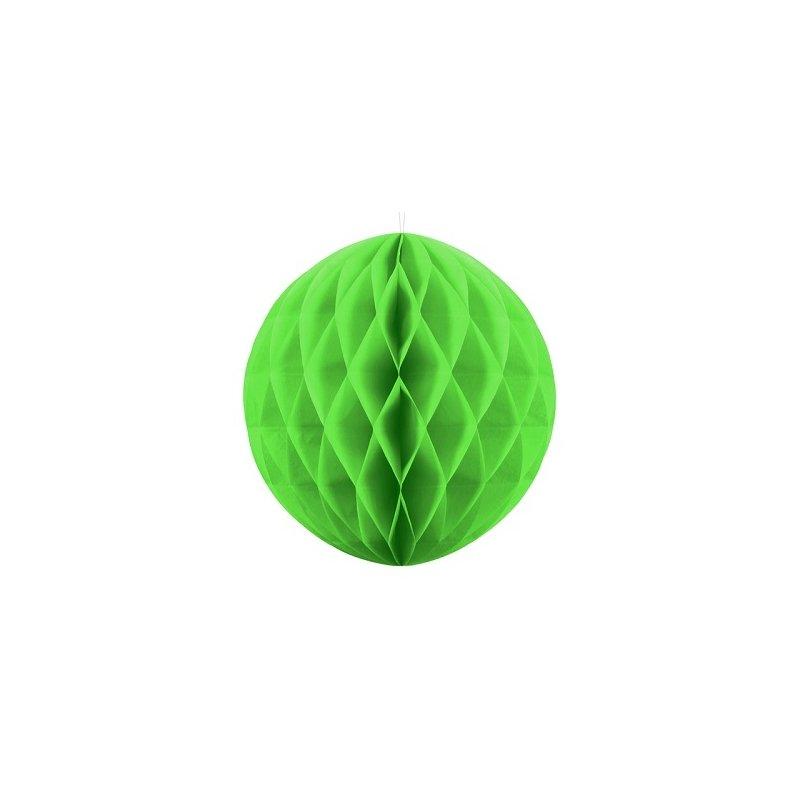 2 Bolas nido de abeja, verde pistacho, 20 cms