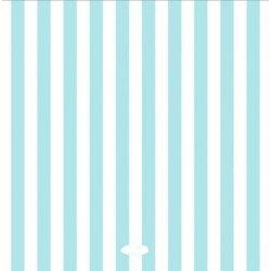 20 Servilletas de papel, rayas azul claro.