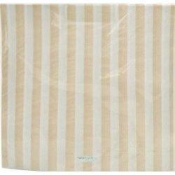 20 Servilletas de papel, rayas beige
