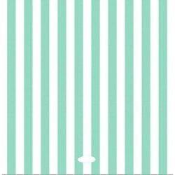 20 Servilletas de papel, rayas turquesa-mint