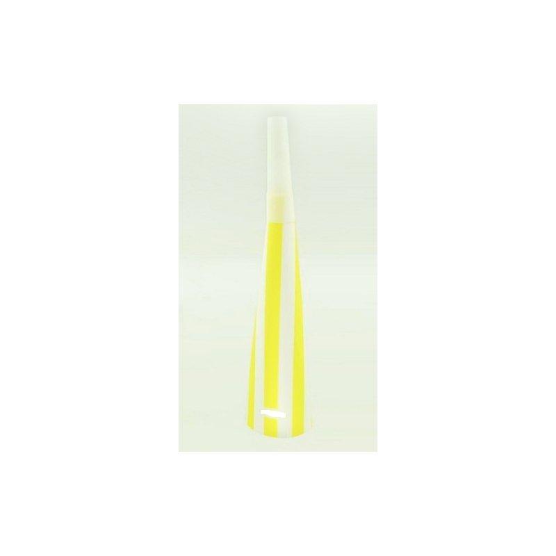 6 Trompetas de papel, rayas amarillas