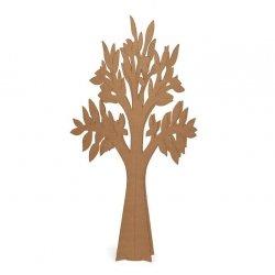 Árbol - Olmo de cartón kraft, automontable. 88.5 cms