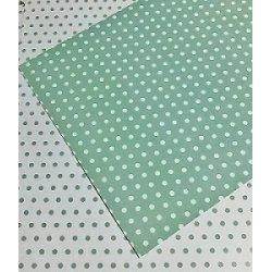 10 Hojas de papel A4, impreso a doble cara. Lunares mint.