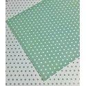 10 Hojas de papel A4, impreso a doble cara. Lunares mint