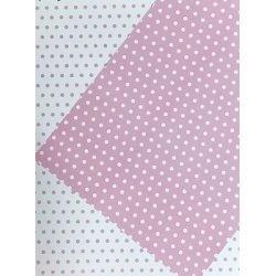 10 Hojas de papel A4, impreso a doble cara. Lunares rosa.