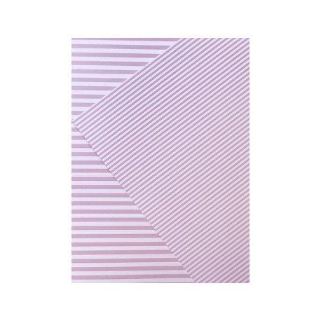 10 Hojas de papel A4, impreso a doble cara. Rayas rosa