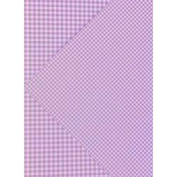 10 Hojas de papel A4, impreso a doble cara. Cuadros vichy rosa.