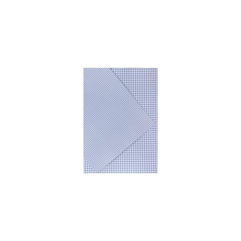 10 Hojas de papel A4, impreso a doble cara. Cuadros vichy azul claro