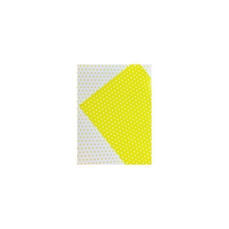 10 Hojas de papel A4, impreso a doble cara. Lunares amarillos