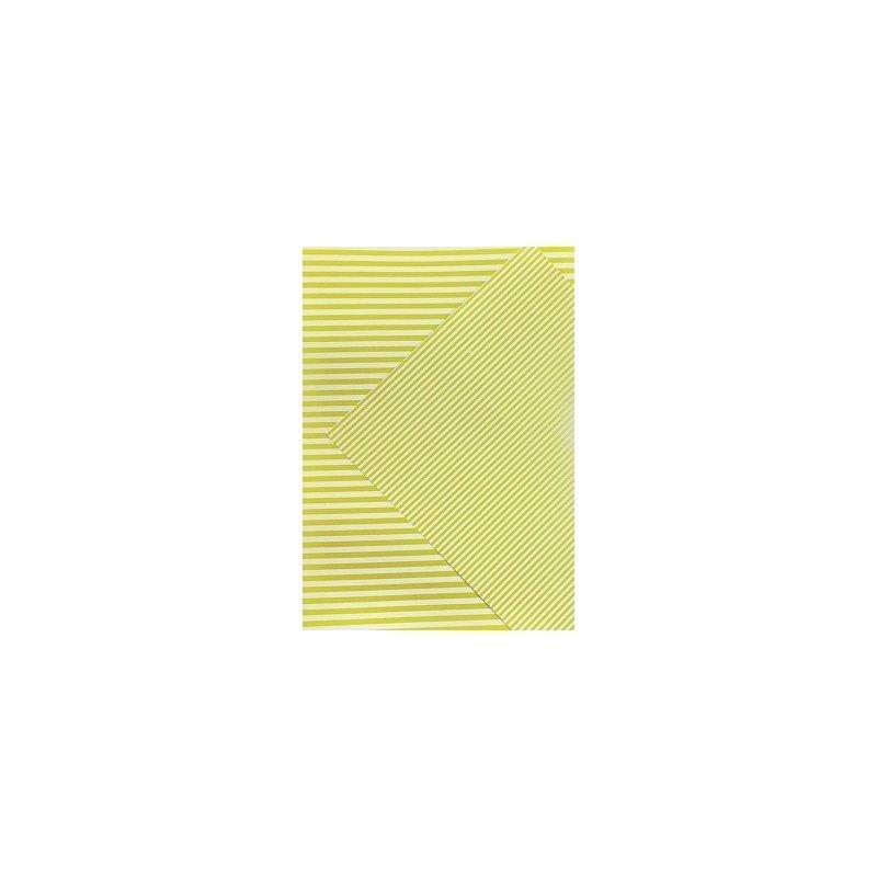10 Hojas de papel A4, impreso a doble cara. Rayas amarillas