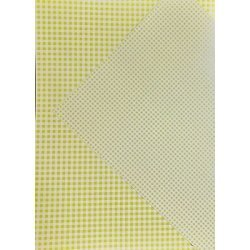 10 Hojas de papel A4, impreso a doble cara. Cuadros vichy amarillos