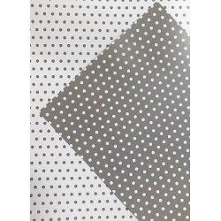 10 Hojas de papel A4, impreso a doble cara. Lunares grises