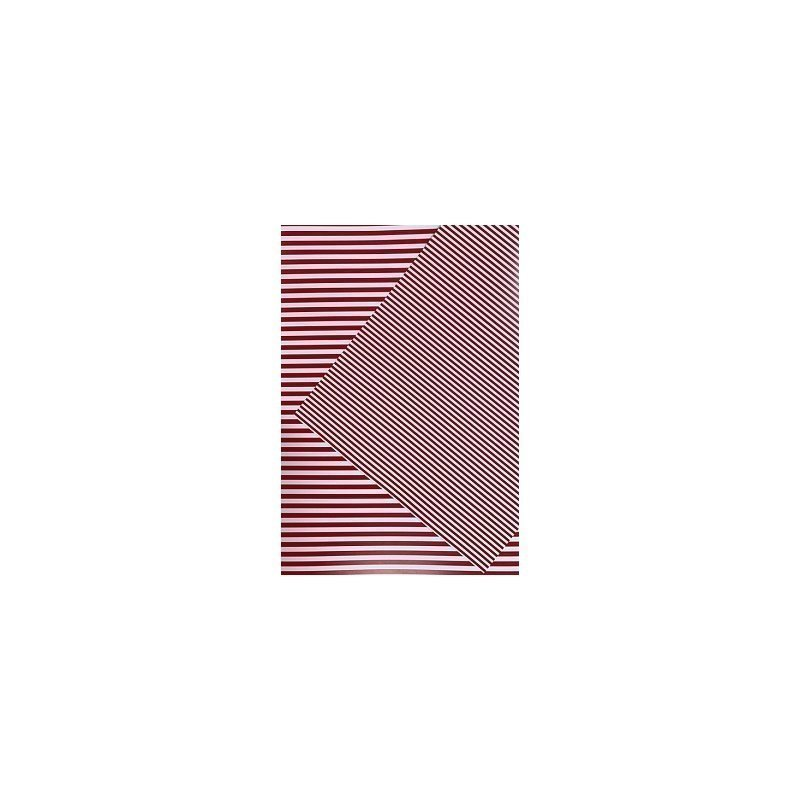 10 Hojas de papel A4, impreso a doble cara. Rayas rojas.