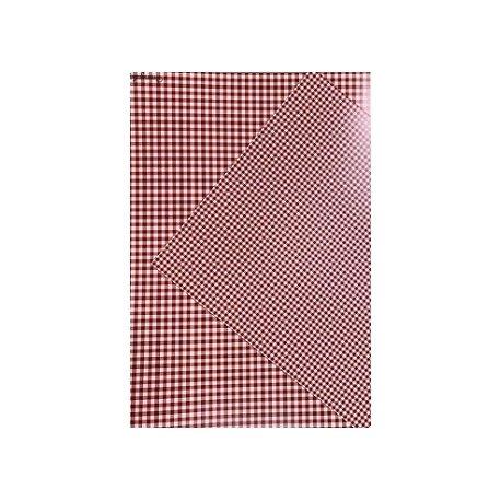10 Hojas de papel A4, impreso a doble cara. Cuadros vichy rojos