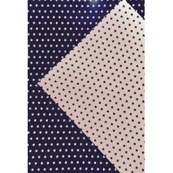10 Hojas de papel A4, impreso a doble cara. Estrellas azul marino