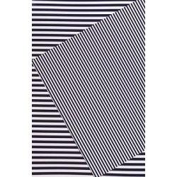 10 Hojas de papel A4, impreso a doble cara. Rayas azul marino.