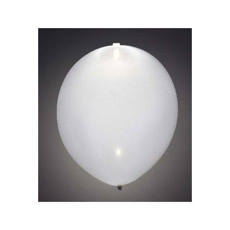 5 globos blancos con luz led.