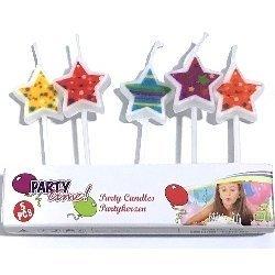 5 Velas de cumpleaños en forma de estrella