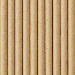 24 Pajitas de papel Kraft