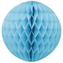 Bola nido de abeja, azul claro, 40 cms