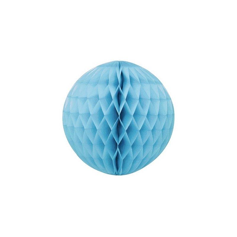 Bola nido de abeja, azul claro, 45 cms