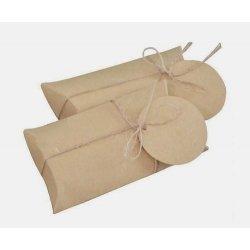 8 Cajas de regalo, petaca kraft liso 17x8x2.5 cms.